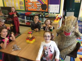 Primary 4 dress up to celebrate Halloween