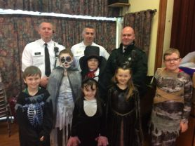 Halloween safety talk from the Fire Service and PSNI.