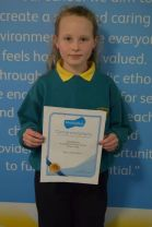 Mathletics Certificate: First Girl to receive Gold!